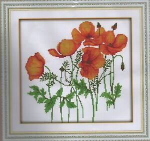 Counted Cross Stitch Kit, Wild coquelicots  </span>