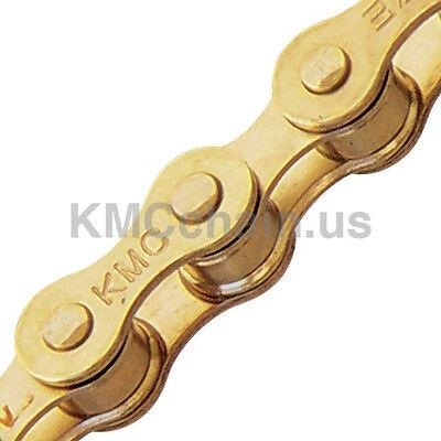 """KMC Z410 BMX fixie single speed bicycle chain 1/2"""" X 1/8"""" 112L GOLD"""