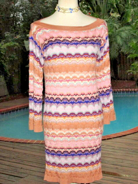 Missoni Multi-Farbe Signature Chevron Weave Dress Brilliant Pastels  IT36 S 4