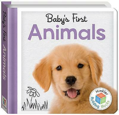 , Building Blocks Animals Baby's First Padded Board Book, Paperback, Very Good B