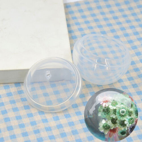 Hand Craft Sphere Making Mould Pendant Tool Transparent Silicone Mold DIY