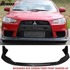 08-15 Mitsubishi Lancer EVO X 10 4Dr VR Style Front Bumper Lip Carbon Fiber CF
