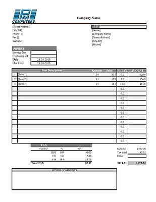 Easy invoice maker with MS EXCEL Template for Windows-Accounting Microsoft