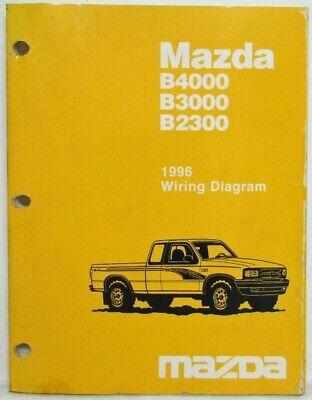 1996 Mazda B4000 B3000 B2300 Pickup Truck Electrical Wiring Diagram Ebay