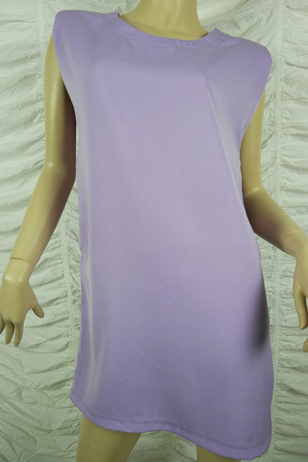 STAPLE THE LABEL mauve purplec purple shoulder pad retro shift dress size BNWT