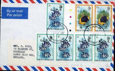 Montserrat Luftpost 1981 Nach Gb Mit Mif Fische Sonstige Karibik Beliebte Marke 426517