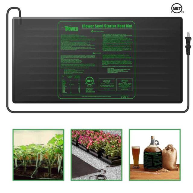 MET certified Seedling Heat Mat,Durable Waterproof Seedling Heat Mat Warm Hydroponic Heating Pad,Waterproof Seedling Heat Mat for Seed Germination