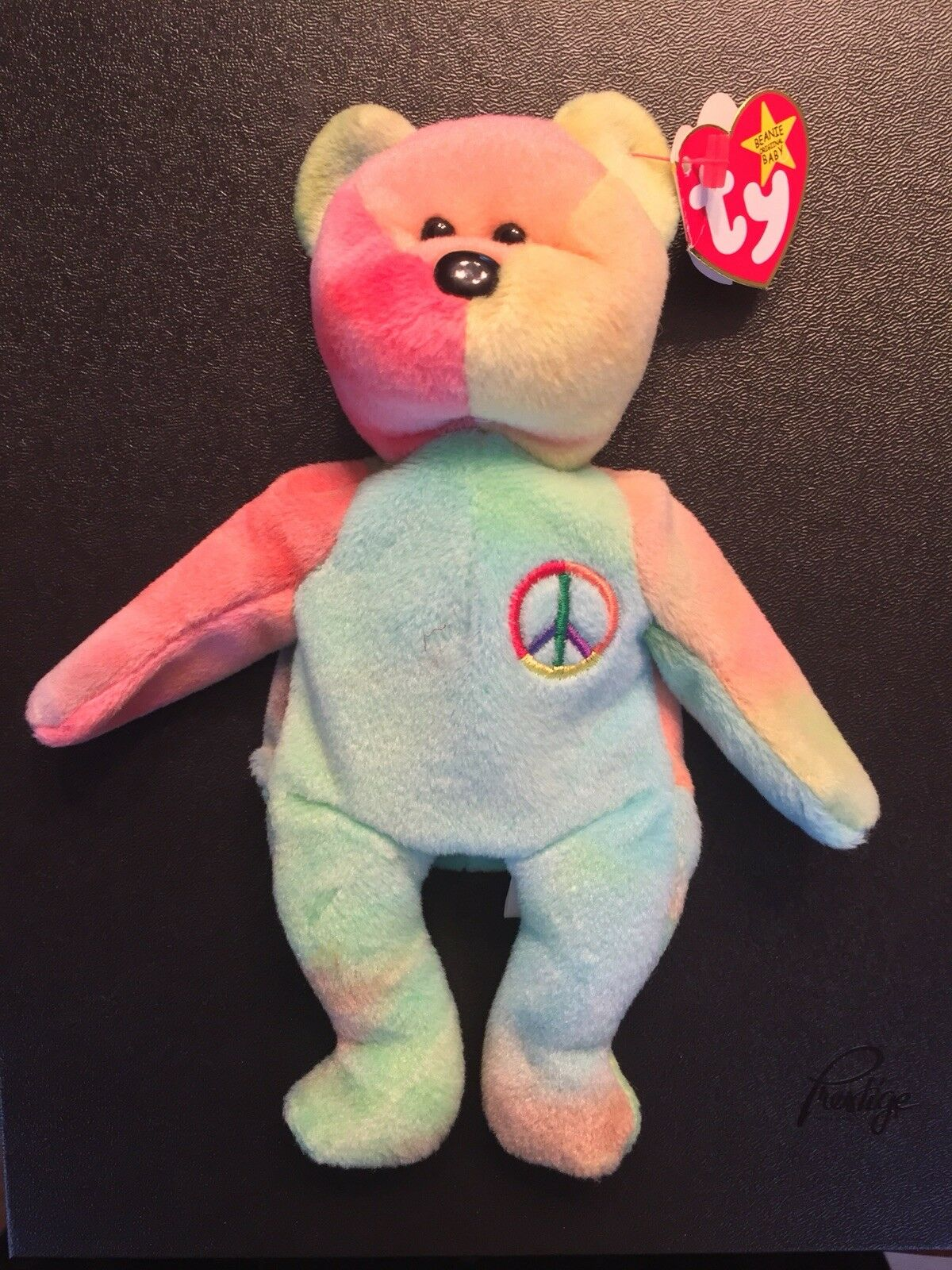 Peace Ty Beanie Baby-Rare-Retired-Rainbow Multiple Errors