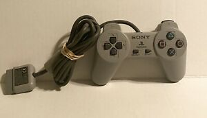 Playstation-1-ps1-Controller-SCPH-1080-grau-OEM-Clean