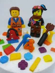 Pleasant Lego Movie 2 Emmet Lucy Handmade Edible Age Birthday Cake Topper Funny Birthday Cards Online Elaedamsfinfo
