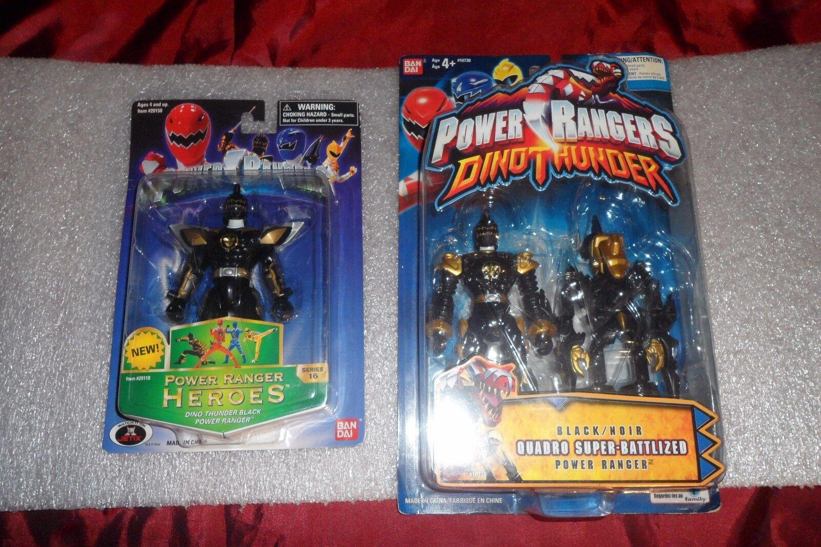 Power Rangers Dino Trueno héroes de la serie 16 nero y Quadro Super-Battlized menta en tarjeta 2