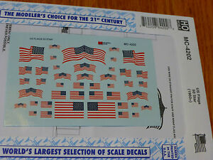 Microscale Decal HO  #MC-4202 United States of America - 50 Star (1960+), Flags