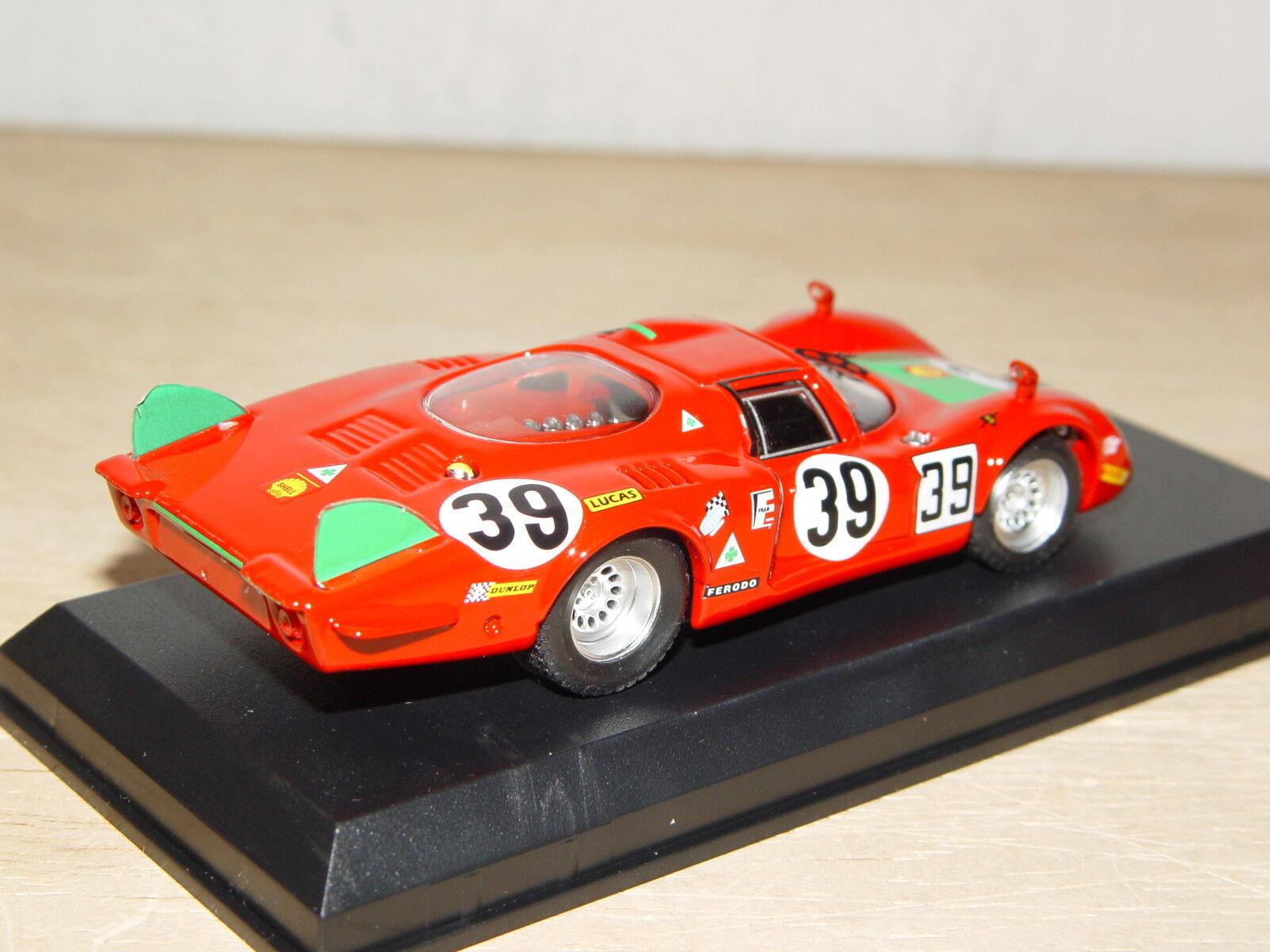 todos los bienes son especiales ALFA-ROMEO 33.2  Longue     39 1 43 - 4e Le Mans 1968, 1er classe - BEST model  barato y de moda