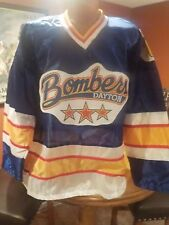 Vintage ECHL Hockey DAYTON BOMBERS 1990's Authentic Style Jersey NEW Large RARE