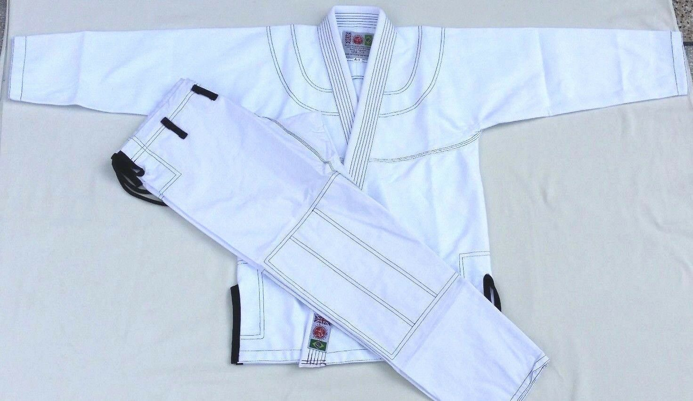 AMQ Fit BJJ Gi Suits Brazilian Jiu-Jitsu Gi Trousers Pearl Weave MMA Suit