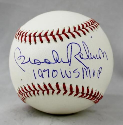 Brooks Robinson Autographed Rawlings OML Baseball W/ WS MVP- JSA W Authenticated