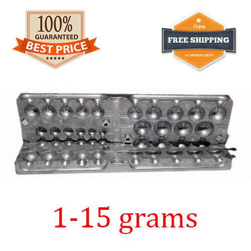 Fishing Sinker Mold Aluminum Lead Round Jig Do It 20 cavity (1 - 15 G)