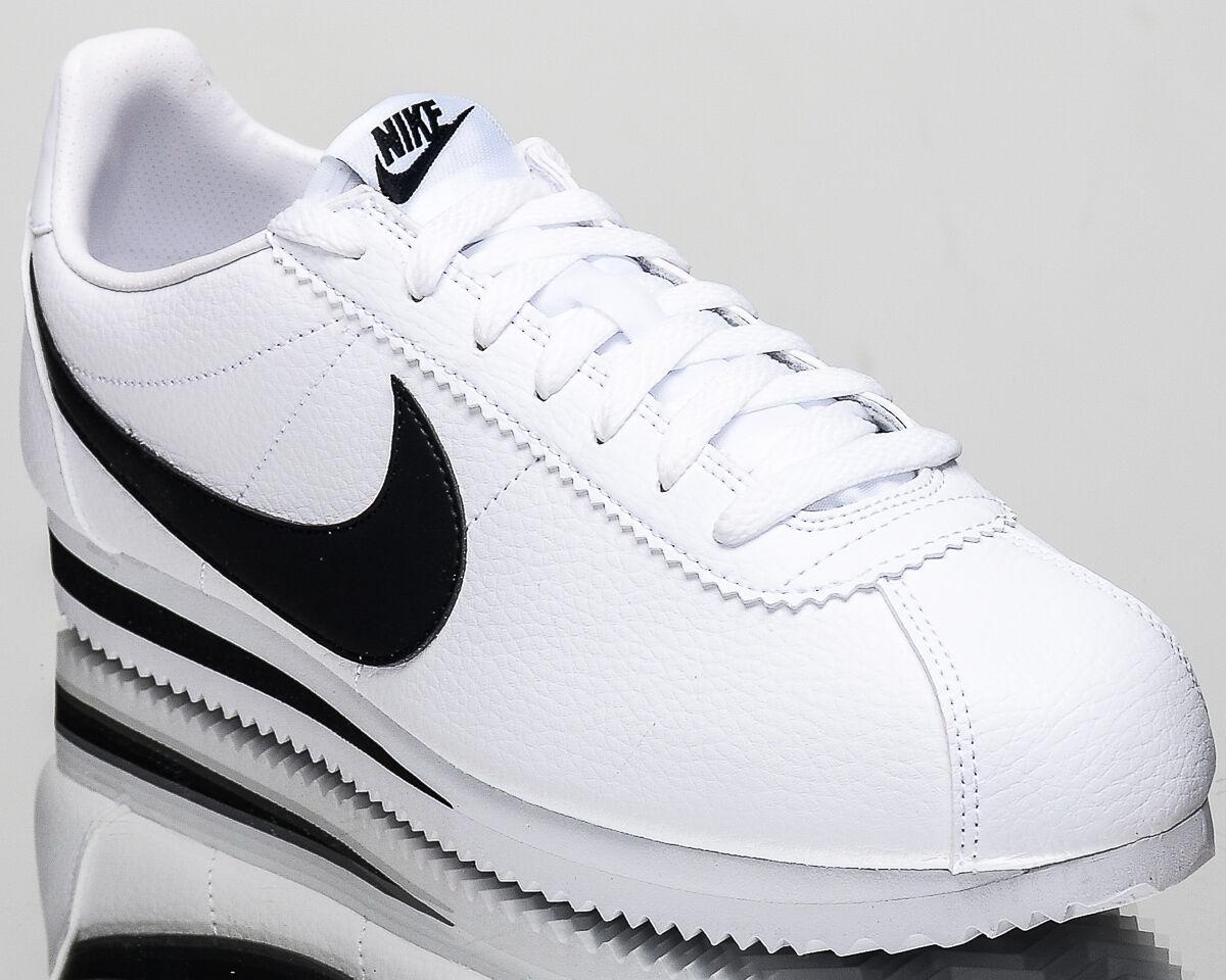 Nike Classic Cortez Leather men lifestyle sneakers NEW white black 749571-100
