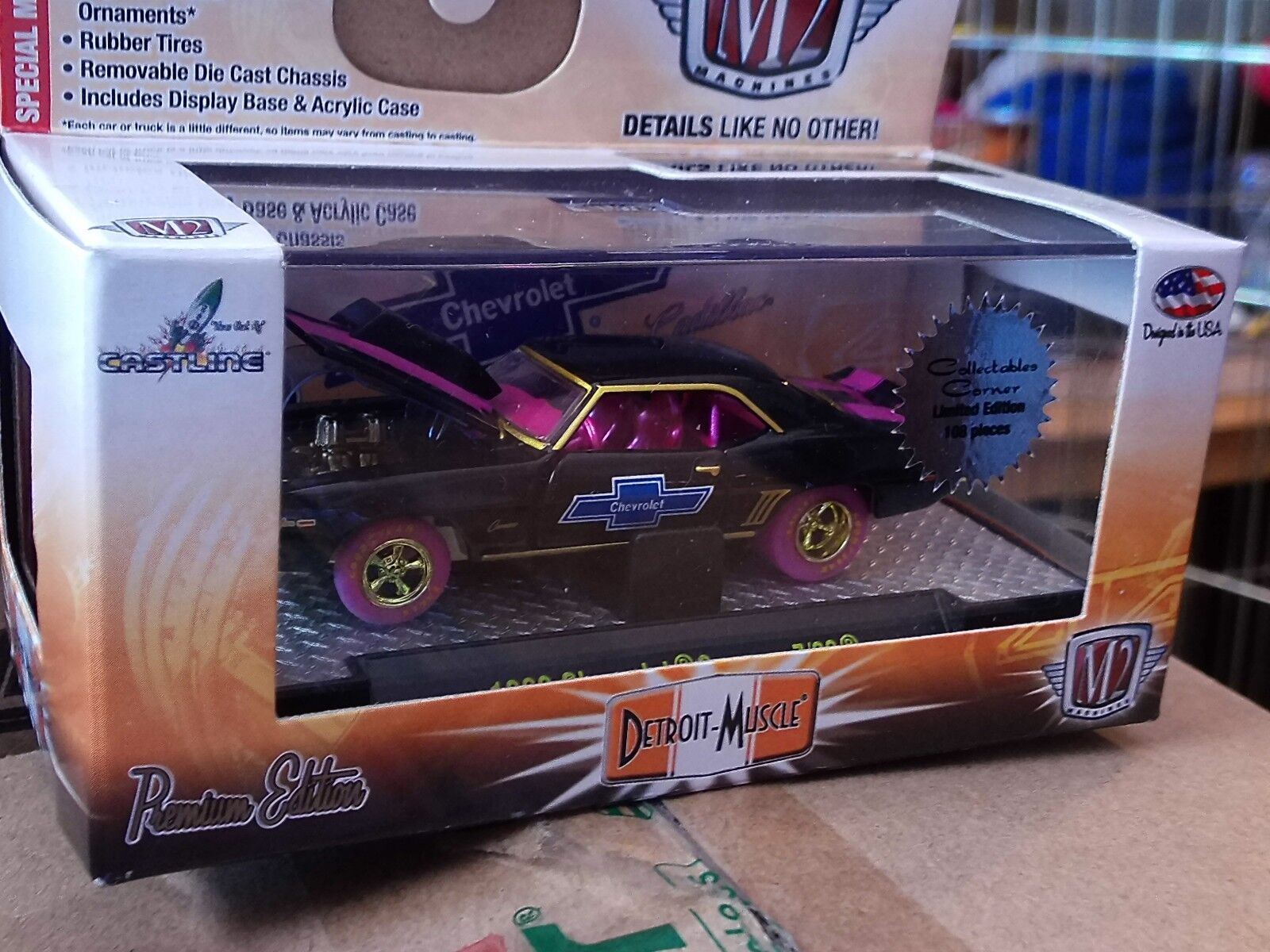 M2 1969 69 CHEVY CAMARO Z 28 RS Super Chase 1 108 Made 1 64 Diecast Or Noir