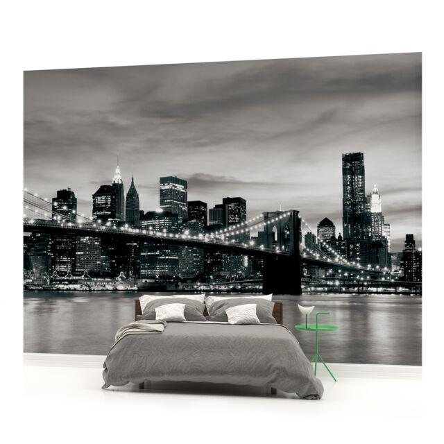 New York Brooklyn Bridge City PHOTO WALLPAPER WALL MURAL ROOM - 226VEVE