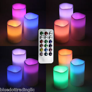 3pc-set-LED-Real-wax-battery-operated-flameless-candles-color-changing-amp-remote