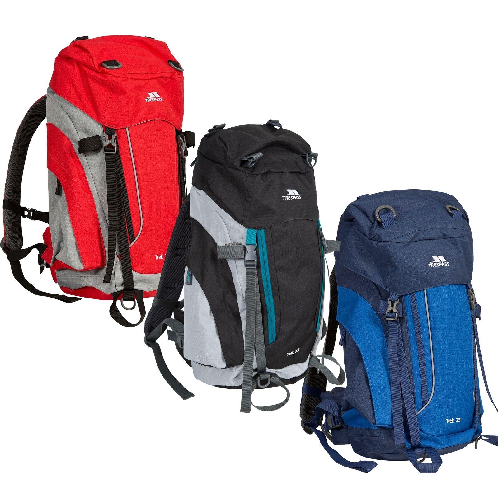 Trespass Trek 33 Litre Rucksack Hiking Travel Backpack