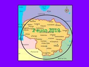 2019 Litauen Lithuania 2 Euro Münzen Samogitia Ethnographische