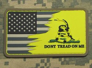 AMERICAN-USA-FLAG-DON-039-T-TREAD-ON-ME-SNAKE-3D-PVC-YELLOW-ACU-VELCRO-BRAND-PATCH