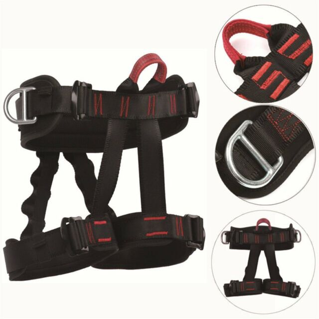 Professional Safety Rock Tree Climbing Rappelling Harness Seat ...