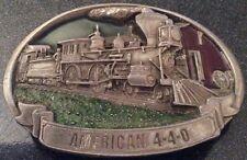 "Beautiful ""American 4-4-0"" Steam Locomotive Metal Belt Buckle, C+J Inc 1987"