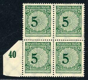 Deutsches-Reich-4er-Block-MiNr-339-b-postfrisch-MNH-geprueft-Schlegel-O477
