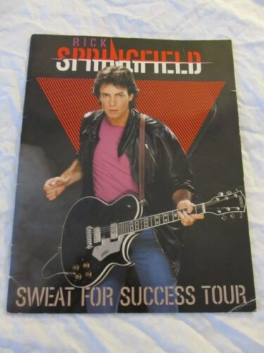 RICK SPRINGFIELD 1982 Sweat For Success Concert Tour Program Book!!! Clippings