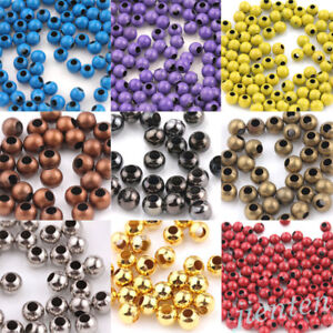 Wholesale-20-50-100PCS-Metal-Loose-Spacer-Round-Beads-Jewelry-Making-3-4-5-6-8mm