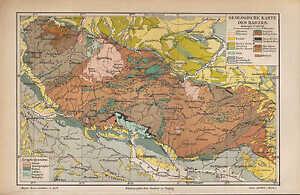 Geologische Karte Thüringen.Landkarte Map 1890 Geologische Karte Des Harzes Thüringen Germany