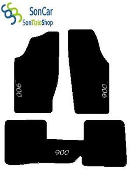 4blok MITSUBISHI L200 DAL 1996 AL 2005 TAPPETI AUTO tappetini posteriori uniti
