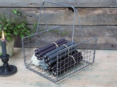 Industrial Magazine Newspaper Basket Vintage Retro Style Wire Mesh Storage Rack Reputatie Eerst
