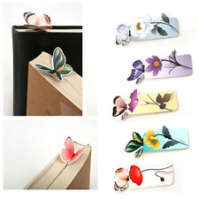 4pcs Cartoon Butterfly Book Marks Paper Clip Office School Bookmarks Girl's Gift
