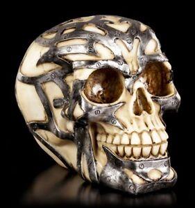 Skull-Tribal-Iron-Gothic-Skull-Robot-Decorative-Statue