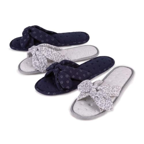 Isotoner Ladies Jersey Knot Front Open Toe Slippers