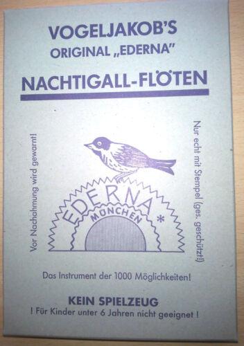"""Vogelstimme Singvogel     Original /""""EDERNA/"""" Vogl-Pfeiferl mit Anleitung"""