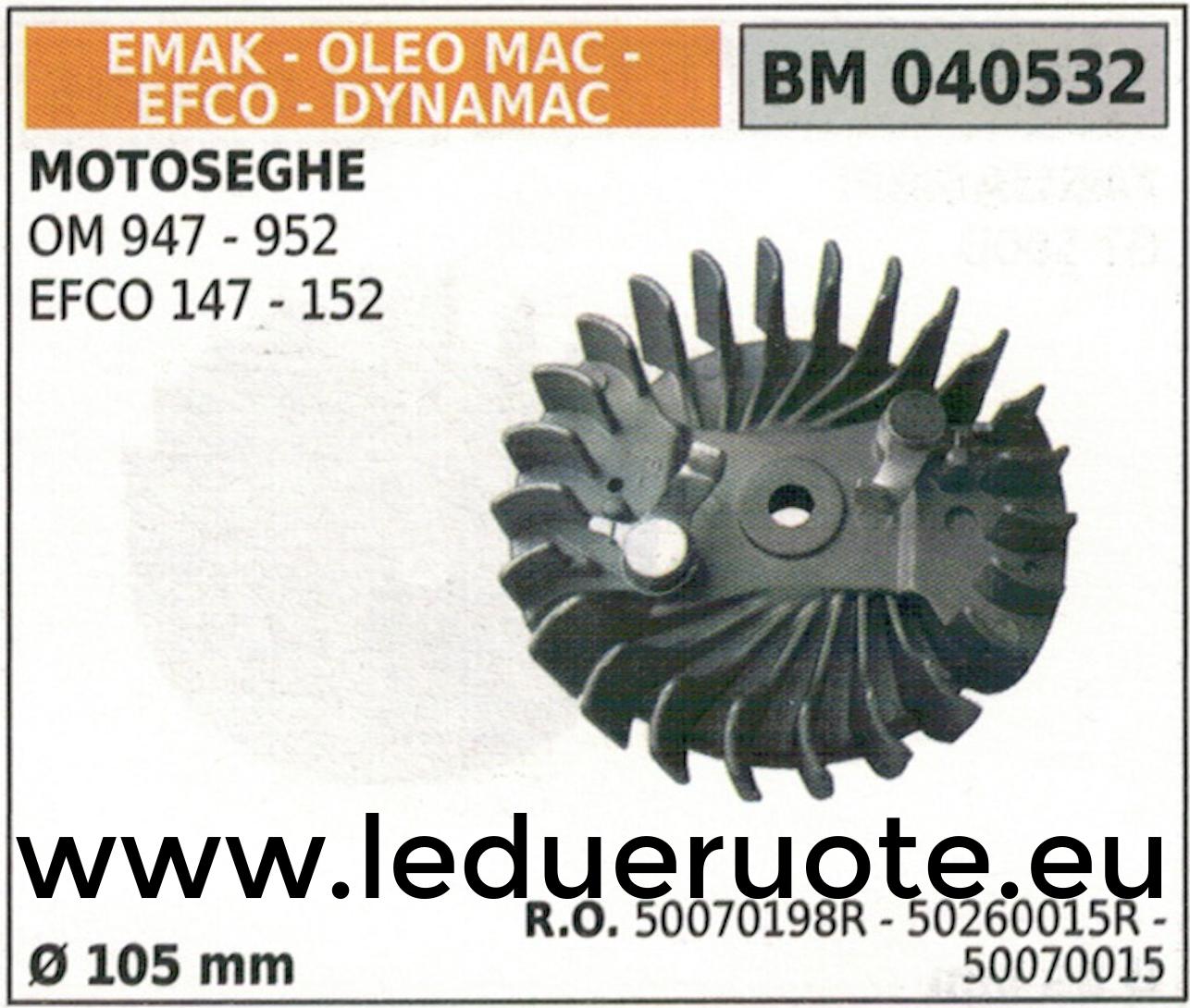 50070198R 50070015 VOLANO MAGNETICO magnete ventola MOTOSEGA EFCO 147 152 Ø105