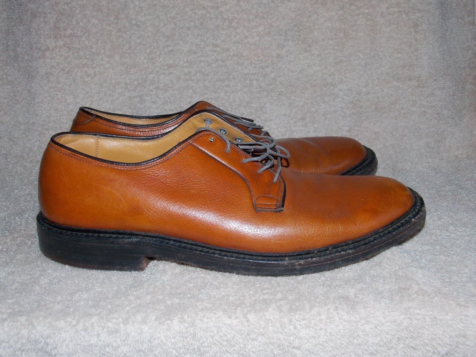 Vintage Brown Pelle Lace Up Up Lace OXFORDS 9 For Uomo Used 6c9e5c
