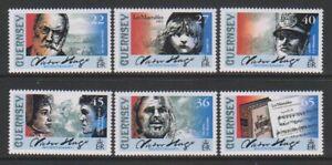 Guernesey-2002-Victor-Hugo-Ensemble-MNH-Sg-935-40