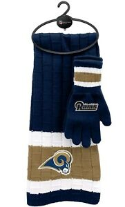 6ee92795 Details about NFL Los Angeles Rams Winter Scarf & Gloves Gift Set