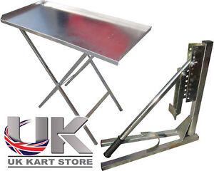 chariot atelier r glable d monte pneu plier vers le haut table de travail ebay. Black Bedroom Furniture Sets. Home Design Ideas