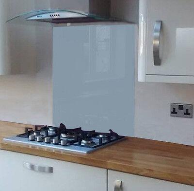 Pastel Grey Coloured Toughened Glass Splashback 600 x 750mm