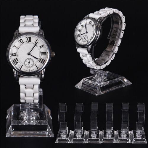 2pcs transparent acrylique détachable bracelet montre porte présentoir supp Tx