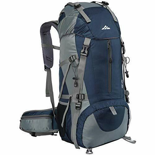 Loowoko Hiking Backpack, 50L Waterproof Travel Backpack Trekking Rucksack