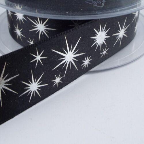 16 Styles Christmas Ribbon Printed Pattern Metallic Silver Gold Foil BUY 1 2 4m