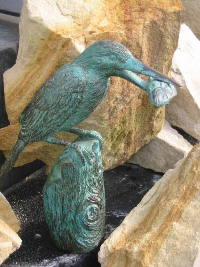 Bronzeskulptur Eisvogel Haus und und und Gartendekoration Bronze Figur (7118) f995c4